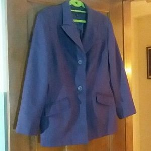 Purple blazer size 14 Sag Harbor, lined